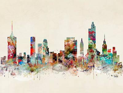Painting - Tulsa City Skyline by Bri B