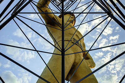 Photograph - Tulsa Driller Art - Oklahoma Statue Art by Gregory Ballos
