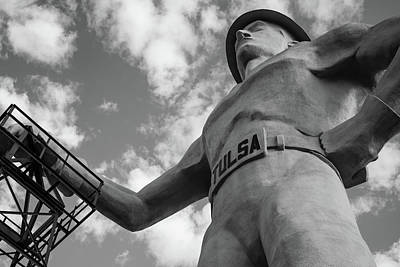 Photograph - Tulsa Driller From Below Black And White Wall Art by Gregory Ballos