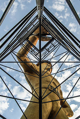 Photograph - Tulsa Driller Man - Architectural Cityscape by Gregory Ballos