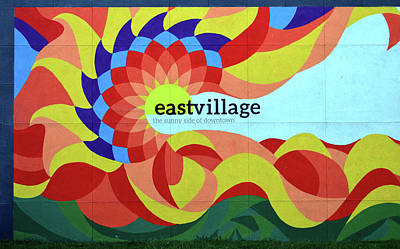 Photograph - Tulsa East Village Mural by Heather Hollingsworth