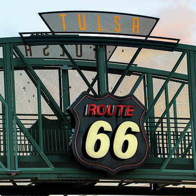 Tulsa Photograph - Tulsa Kicks On Route 66 - Neon Sign - Oklahoma - Usa by Gregory Ballos