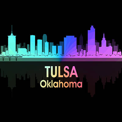 Digital Art - Tulsa Ok 5 Squared by Angelina Vick