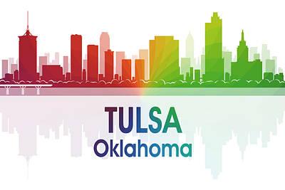 Tulsa Oklahoma. Architecture Mixed Media - Tulsa Ok by Angelina Vick