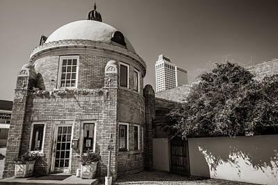 Photograph - Tulsa Oklahoma Blue Dome Skyline Architecture - Sepia  by Gregory Ballos