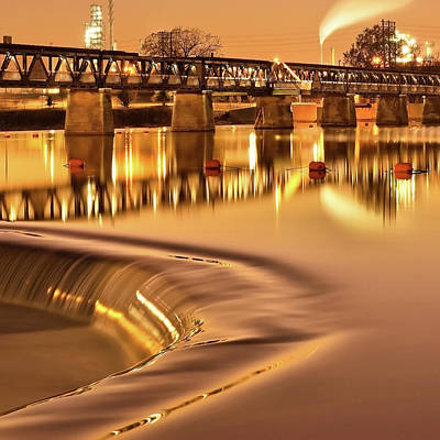 Tulsa Oklahoma Bridge - Liquid Gold #2 Art Print by Gregory Ballos