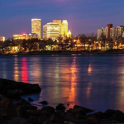 Photograph - Tulsa Oklahoma City Skyline Reflections - Color by Gregory Ballos