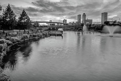 Photograph - Tulsa Oklahoma Cityscape Skyline - Black And White by Gregory Ballos