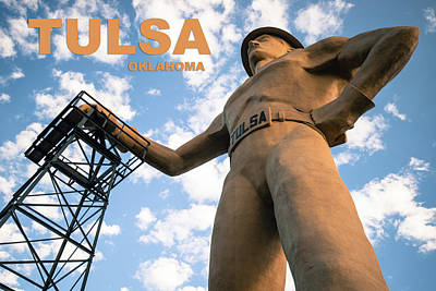 Photograph - Tulsa Oklahoma Golden Driller Fine Art by Gregory Ballos