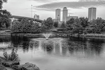 Photograph - Tulsa Oklahoma In Black And White Monochrome by Gregory Ballos