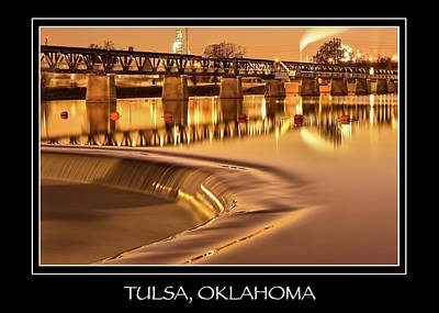 Photograph - Tulsa Oklahoma Liquid Gold City Name Print - Color by Gregory Ballos