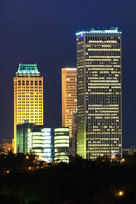 Photograph - Tulsa Oklahoma Night Cityscape by Gregory Ballos