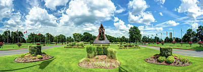 Royalty-Free and Rights-Managed Images - Tulsa Oklahoma Oral Roberts University Praying Hands Panorama by Gregory Ballos