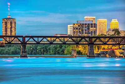 Tulsa Oklahoma Skyline Over The Arkansas River Art Print by Gregory Ballos