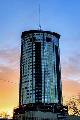 Photograph - Tulsa Oklahoma's University Tower At Sunrise  by Gregory Ballos