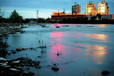 Photograph - Tulsa Power Plant On The Arkanss River by Gregory Ballos