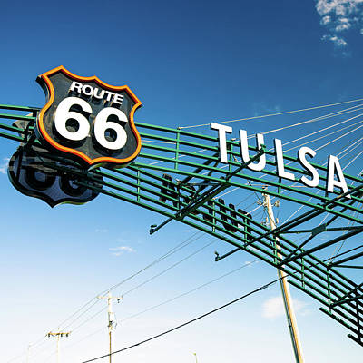 Photograph - Tulsa Retro Route 66 - Square Edition by Gregory Ballos