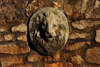 Digital Art - Tulsa Rose Garden Lion Fountain #1 by Susan Vineyard