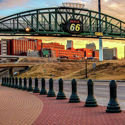 Photograph - Tulsa Route 66 - Cyrus Avery Plaza - Square Art by Gregory Ballos
