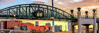 Photograph - Tulsa Route 66 - Cyrus Avery Plaza - Tulsa Panoramic by Gregory Ballos