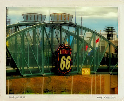 Photograph - Tulsa Route 66 Sign by Tony Grider