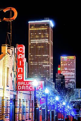 Photograph - Tulsa Skyline And Cains Ballroom Music Hall by Gregory Ballos