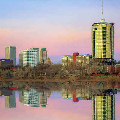 Photograph - Tulsa Skyline And Skycraper Art - Color Edition 1x1 by Gregory Ballos