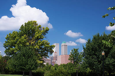Photograph - Tulsa Skyline Beyond The Trees by Gregory Ballos