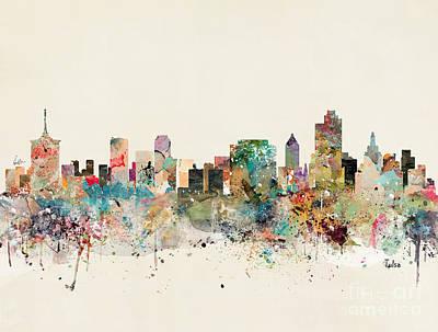 Painting - Tulsa Skyline by Bleu Bri