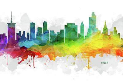 Tulsa Skyline Mmr-usoktu05 Art Print