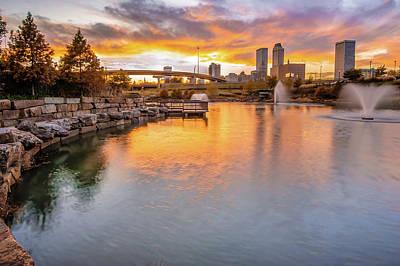 Photograph - Tulsa Skyline Sunset - Oklahoma Cityscape by Gregory Ballos