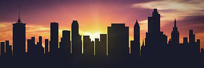 Tulsa Sunset Usoktu-pa01 Art Print