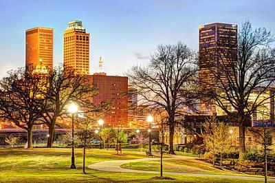 Skyline Photograph - Tulsa Through The Trees by Gregory Ballos