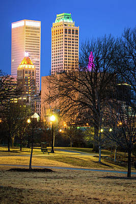 Photograph - Tulsa Towers From Centennial Park by Gregory Ballos
