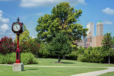 Photograph - Tulsa's Pearl District Skyline by Gregory Ballos