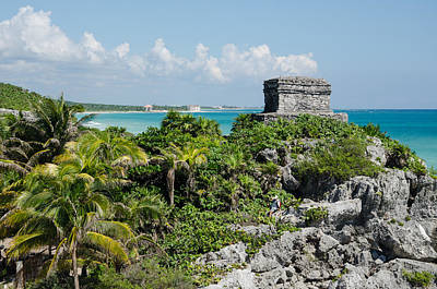 Photograph - Tulum Jungle Ruins by Margaret Pitcher