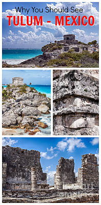 Photograph - Tulum, Mexico Collage by Tatiana Travelways