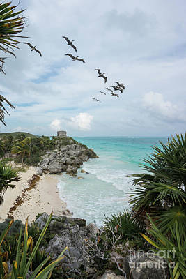 Photograph - Tulum Ruins Beach Riviera Maya Yucatan Mexico by Christy Woodrow