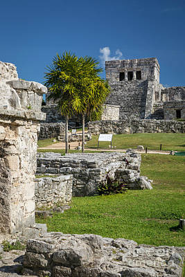 Photograph - Tulum Temple Ruins by Brian Jannsen