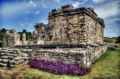 Photograph - Tulum Temple Ruins by Tammy Wetzel