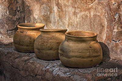 Digital Art - Tumacacori Grainery Pots by Georgianne Giese