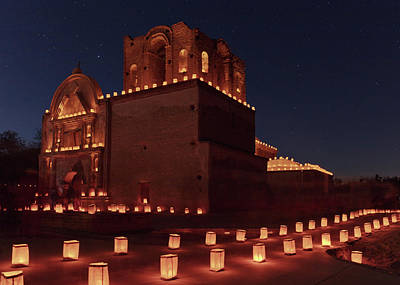 Photograph - Tumacacori Luminarias And Stars by Tom Daniel