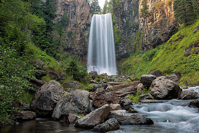 Photograph - Tumalo Falls Closeup by David Gn