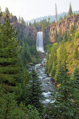 Central Photograph - Tumalo Falls In Bend Oregon by David Gn