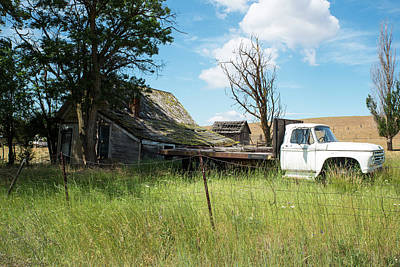 Photograph - Tumble-down House And Flat Bed Truck by Tom Cochran