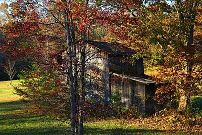 Photograph - Tumbledown Barn by Kathryn Meyer