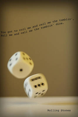 Photograph - Tumblin' Dice by Christopher Rees