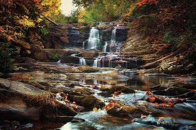 Photograph - Tumbling Autumn Falls by Debra and Dave Vanderlaan