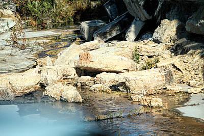 Tumbling Limestone Original by Linda Phelps