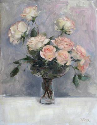 Painting - Tumbling Roses by Chris  Saper